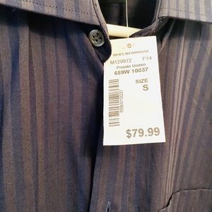 NWT Size S striped button down